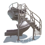 Vortex Pool Slide with Ladder - Gray Granite