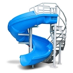 Vortex Pool Slide with Ladder - Blue
