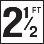 2 1/2FT - 5 Inch Number(s) - Smooth Ceramic Depth Markers, Factory Skid-Resistant and Frost Resistant - WATERLINE