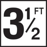 3 1/2FT - 5 Inch Number(s) - Smooth Ceramic Depth Markers, Factory Skid-Resistant and Frost Resistant - WATERLINE