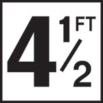 4 1/2FT - 5 Inch Numbers - Smooth Ceramic Depth Markers, Factory Skid-Resistant and Frost Resistant - DECK