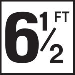 6 1/2FT - 5 Inch Numbers - Smooth Ceramic Depth Markers, Factory Skid-Resistant and Frost Resistant - DECK