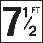 7 1/2FT - 5 Inch Numbers - Smooth Ceramic Depth Markers, Factory Skid-Resistant and Frost Resistant - DECK