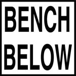 BENCH BELOW - 2 inch letters - Smooth Ceramic Depth Markers, Factory Skid-Resistant and Frost Resistant - WATERLINE