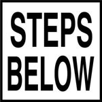 STEPS BELOW - 2 inch letters - Smooth Ceramic Depth Markers, Factory Skid-Resistant and Frost Resistant - WATERLINE
