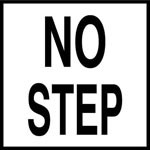 NO STEP - 2 inch letters - Smooth Ceramic Depth Markers, Factory Skid-Resistant and Frost Resistant - WATERLINE