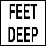 FEET DEEP - 2 inch letters - Smooth Ceramic Depth Markers, Factory Skid-Resistant and Frost Resistant - WATERLINE