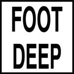 FOOT DEEP - 2 inch letters - Smooth Ceramic Depth Markers, Factory Skid-Resistant and Frost Resistant - WATERLINE