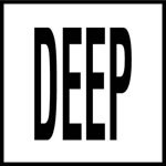 DEEP -  4 Inch Letters - Smooth Ceramic Depth Markers, Factory Skid-Resistant and Frost Resistant - DECK