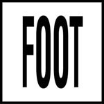 FOOT -  4 Inch Letters - Smooth Ceramic Depth Markers, Factory Skid-Resistant and Frost Resistant - DECK