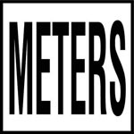 METERS -  4 Inch Letters - Smooth Ceramic Depth Markers, Factory Skid-Resistant and Frost Resistant - DECK