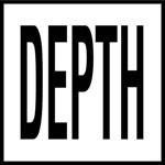 DEPTH -  4 Inch Letters - Smooth Ceramic Depth Markers, Factory Skid-Resistant and Frost Resistant - DECK