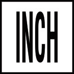 INCH -  4 Inch Letters - Smooth Ceramic Depth Markers, Factory Skid-Resistant and Frost Resistant - DECK
