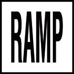 RAMP -  4 Inch Letters - Smooth Ceramic Depth Markers, Factory Skid-Resistant and Frost Resistant - DECK