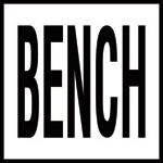 BENCH -  4 Inch Letters - Smooth Ceramic Depth Markers, Factory Skid-Resistant and Frost Resistant - DECK
