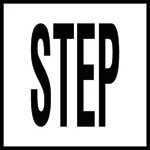 STEP -  4 Inch Letters - Smooth Ceramic Depth Markers, Factory Skid-Resistant and Frost Resistant - DECK