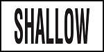 SHALLOW -  4 Inch Letters - Smooth Ceramic Depth Markers, Factory Skid-Resistant and Frost Resistant - DECK