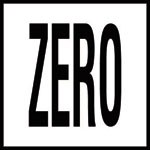 ZERO -  4 Inch Letters - Smooth Ceramic Depth Markers, Factory Skid-Resistant and Frost Resistant - DECK