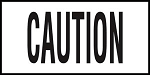 CAUTION - 4 inch letters - Smooth Ceramic Depth Markers, Factory Skid-Resistant and Frost Resistant - WATERLINE