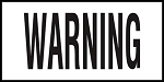 WARNING - 4 Inch Letters - Smooth Ceramic Depth Markers, Factory Skid-Resistant and Frost Resistant - DECK