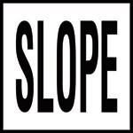 SLOPE - 4 inch letters - Smooth Ceramic Depth Markers, Factory Skid-Resistant and Frost Resistant - WATERLINE