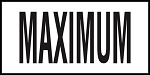 MAXIMUM - 4 Inch Letters - Smooth Ceramic Depth Markers, Factory Skid-Resistant and Frost Resistant - DECK