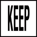 KEEP - 4 inch letters - Smooth Ceramic Depth Markers, Factory Skid-Resistant and Frost Resistant - WATERLINE