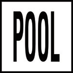 POOL - 4 inch letters - Smooth Ceramic Depth Markers, Factory Skid-Resistant and Frost Resistant - WATERLINE