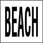 BEACH - 4 Inch Letters - Smooth Ceramic Depth Markers, Factory Skid-Resistant and Frost Resistant - DECK