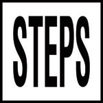STEPS - 4 inch letters - Smooth Ceramic Depth Markers, Factory Skid-Resistant and Frost Resistant - WATERLINE