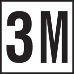 3M - 4 Inch Number - Smooth Ceramic Depth Markers, Factory Skid-Resistant and Frost Resistant - DECK
