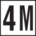 4 M - 4 Inch Numbers - Smooth Ceramic Depth Markers, Factory Skid-Resistant and Frost Resistant - WATERLINE