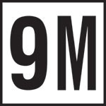 9M - 4 Inch Number - Smooth Ceramic Depth Markers, Factory Skid-Resistant and Frost Resistant - DECK