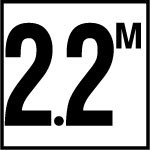 2.2 M - 4 Inch Numbers - Smooth Ceramic Depth Markers, Factory Skid-Resistant and Frost Resistant - WATERLINE