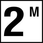 2M - 4 Inch Number - Smooth Ceramic Depth Markers, Factory Skid-Resistant and Frost Resistant - WATERLINE