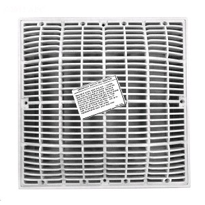 "Waterway 12"" X 12"" VGB Compliant Frame & Grate - White"